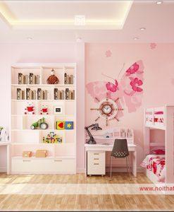thiết kế nội thất phòng gnur cho bé gái 2