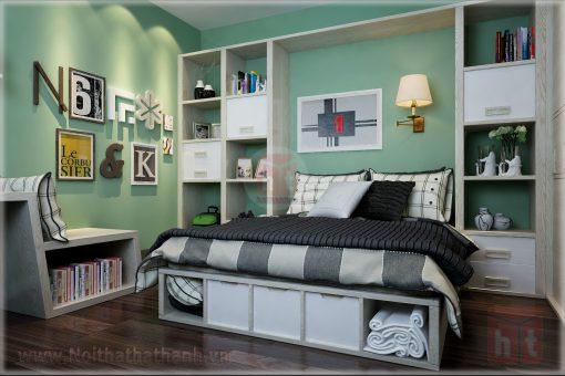 thiết kế nội thất phòng ngủ cho bé gái mệnh hỏa 1