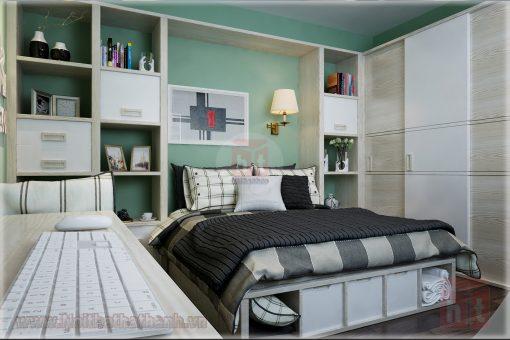 thiết kế nội thất phòng ngủ cho bé gái mệnh hỏa 2