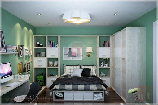 thiết kế nội thất phòng ngủ cho bé gái mệnh hỏa 5