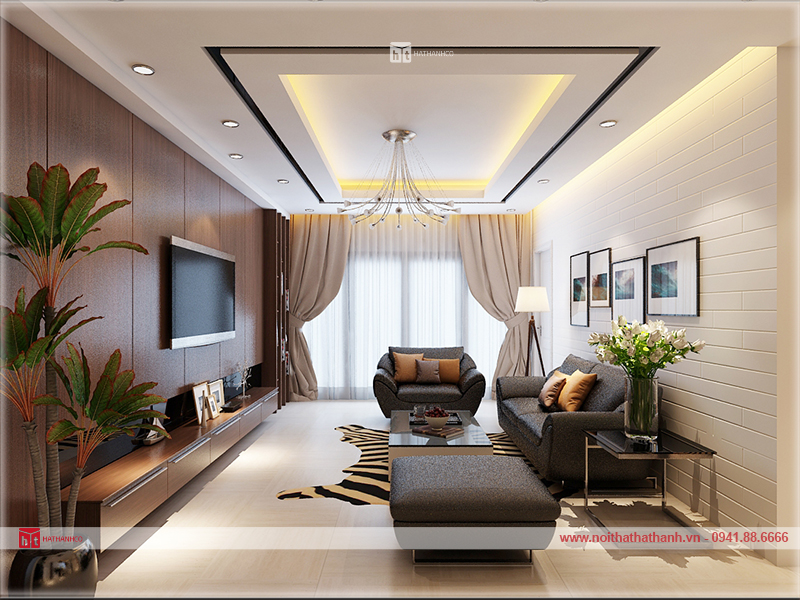 thiết kế nội thất nhà chùn cư Hà nội 4