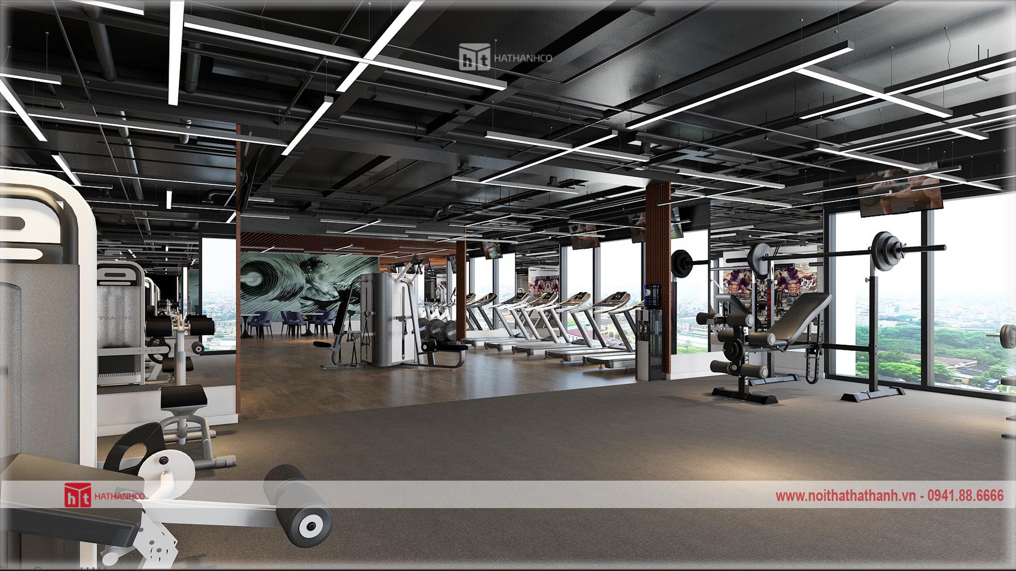 Thiết kế nội thất phòng tập gym hiện đại (1)