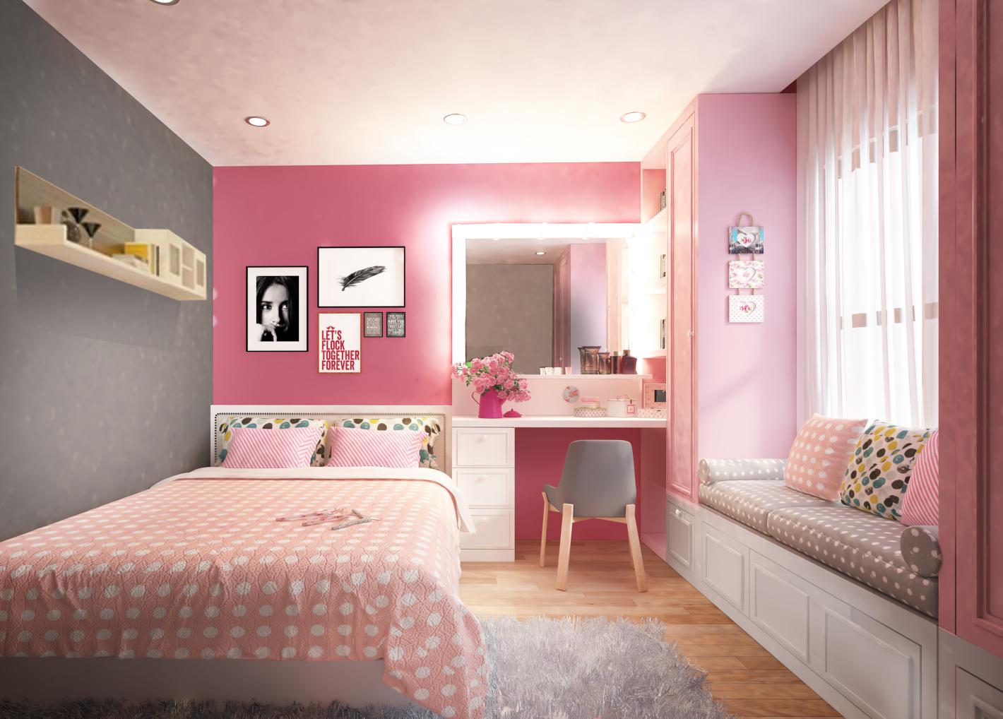 Trang trí bằng những khung ảnh đơn giản, bắt mắt - thiết kế nội thất phòng ngủ