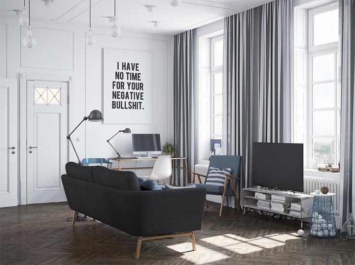 Tỷ lệ thiết kế hài hòa, cân xứng - thiết kế nội thất chung cư cao cấp