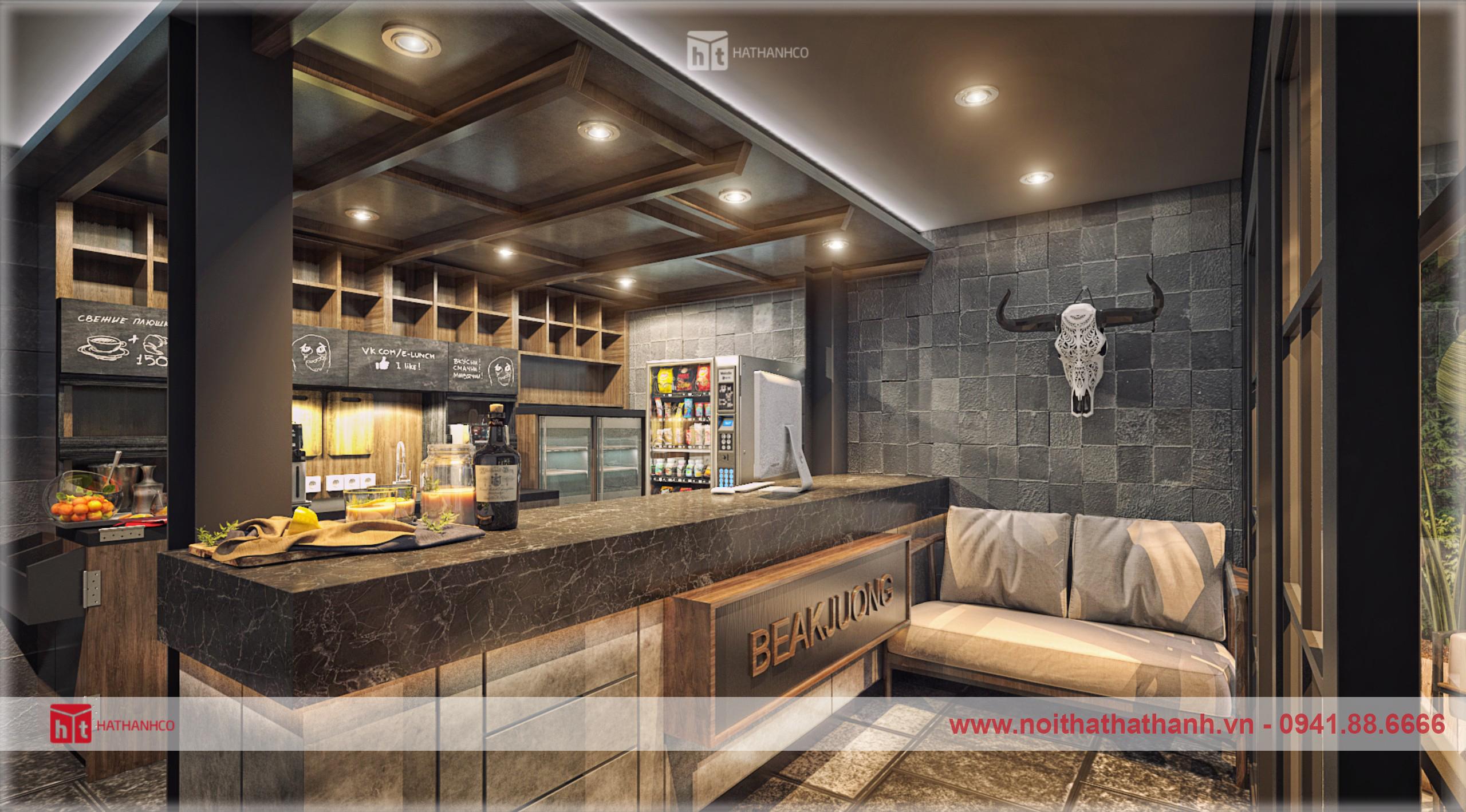 thiết kế nội thất quán coffee phong cách hàn quốc (3)