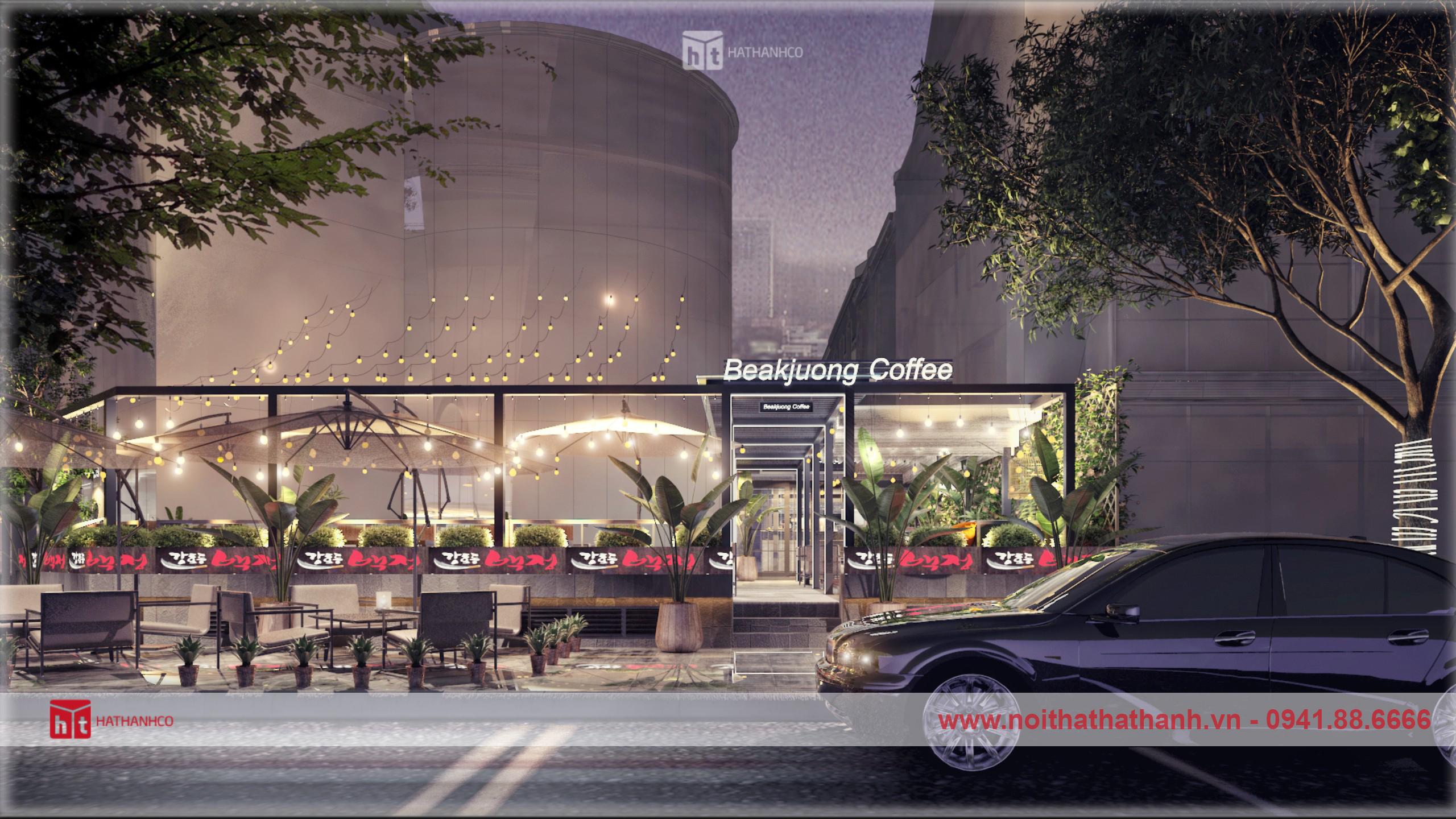 thiết kế nội thất quán coffee phong cách hàn quốc (5)