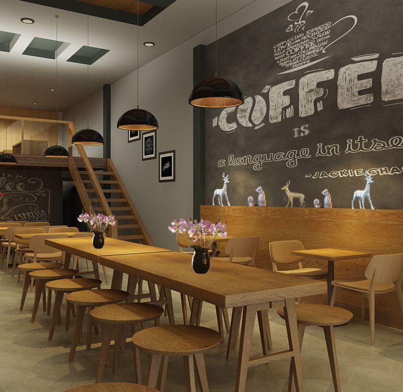 phong cách thiết kế nội thất cà phê
