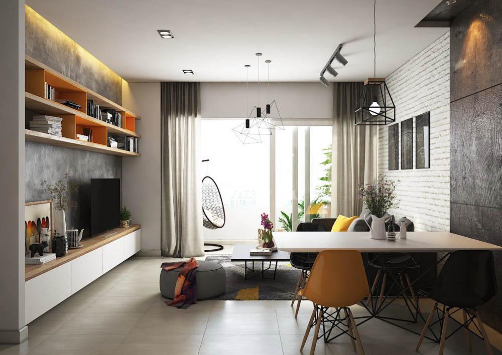 thiết kế chung cư 50m2